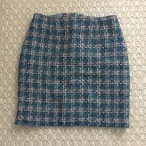 Dresses & Skirts - 🌈Vintage window pane tweed lined skirt made 🇮🇹